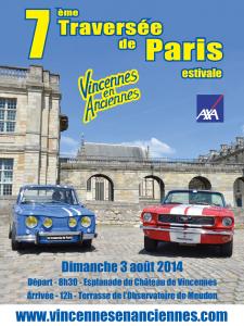 Affiche de la spetième traversée de Paris estivale