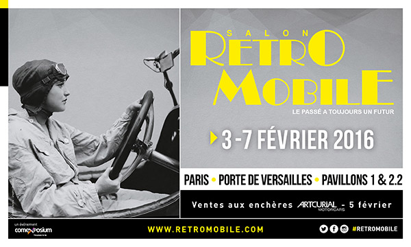Salon r tromobile 2016 paris porte de versailles retro for Salon a paris porte de versailles