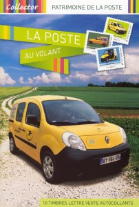 "Collection de timbres ""La Poste au Volant"""